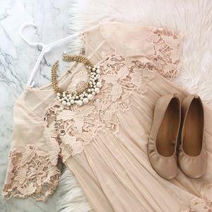 Anthropologie Magnolia Peach Dress